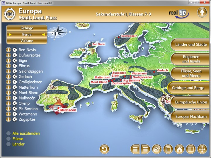 europa stadt land fluss software geographie fachbereiche gida. Black Bedroom Furniture Sets. Home Design Ideas