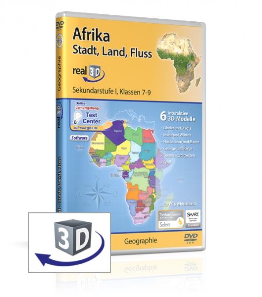 Afrika - Stadt, Land, Fluss